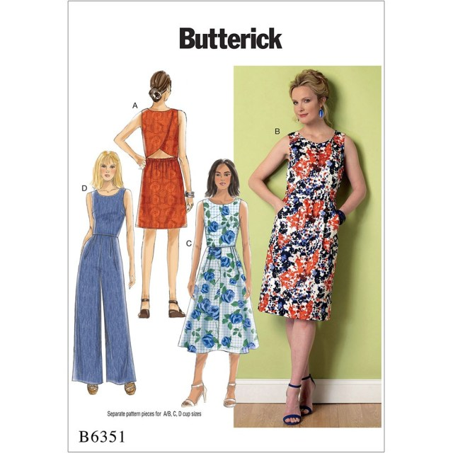 Jumpsuit Sewing Pattern Misses Open Back Tulip Detail Dresses And Jumpsuit Butterick Sewing