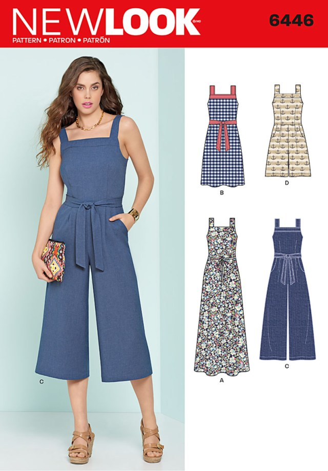 Jumpsuit Sewing Pattern New Look 6446 Misses Jumpsuits And Dresses