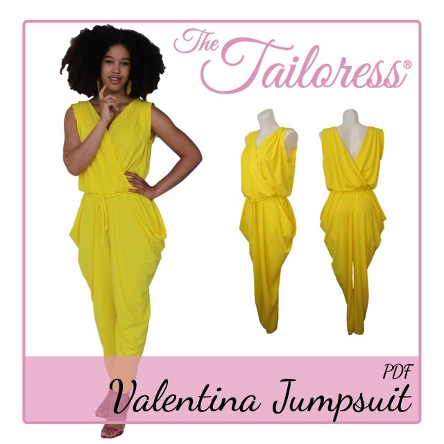 Jumpsuit Sewing Pattern Valentina Jumpsuit Pdf Sewing Pattern Tha Tailoress