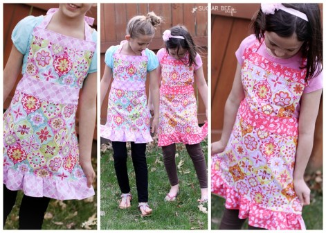 Kids Patterns Sewing Daughters Cute Girls Apron Tutorial Apron Patterns For Children