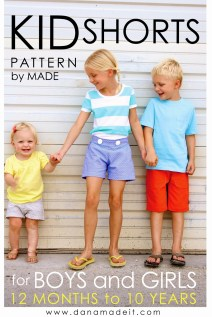 Kids Patterns Sewing Daughters Pattern Kid Shortsages 12 Months To 10 Years Made Everyday