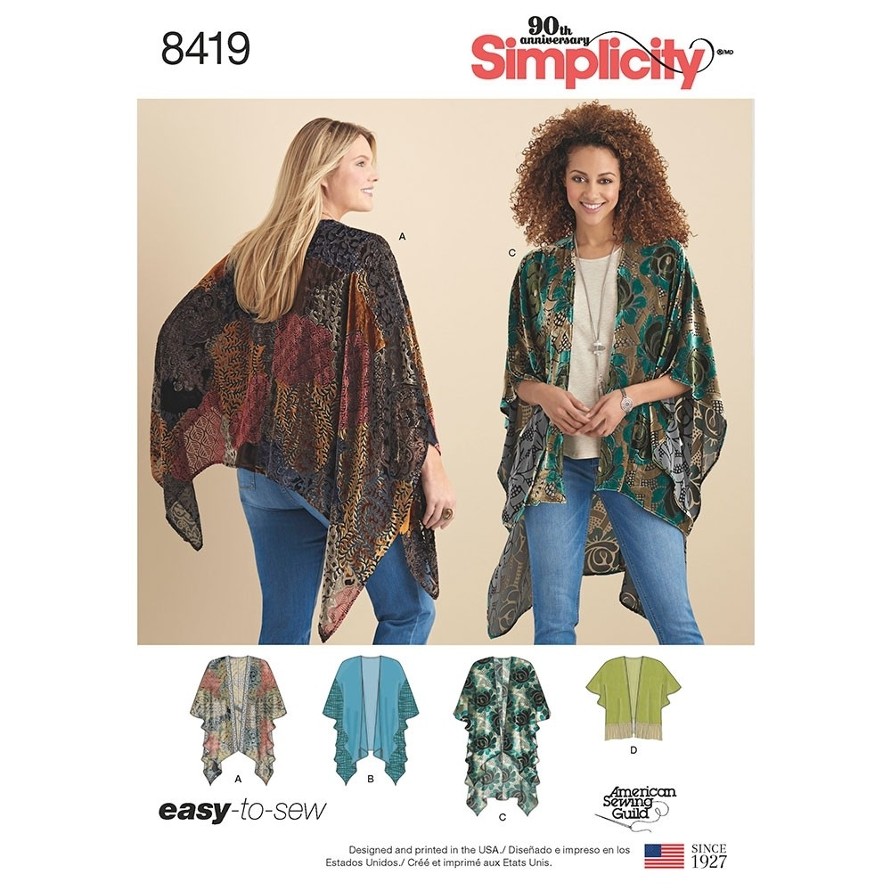 Kimono Sewing Pattern Misses Kimono Style Wrap With Variations Simplicity Sewing Pattern