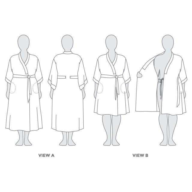 Kimono Sewing Pattern Suki Kimono Pdf Pattern Helens Closet