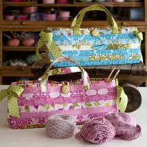 Knitting Bag Sewing Pattern Projects Carry Me Bag