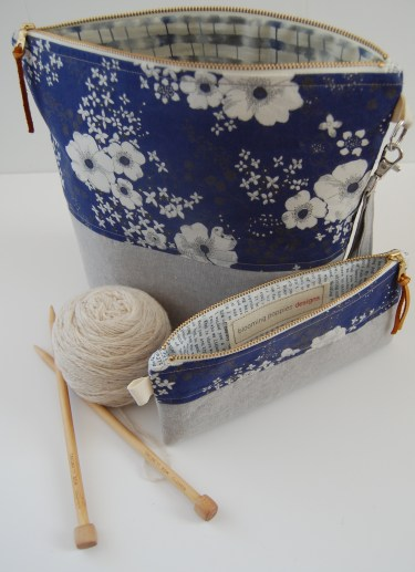 Knitting Bag Sewing Pattern Projects Introducing My New Projectstash Bags Blooming Poppies