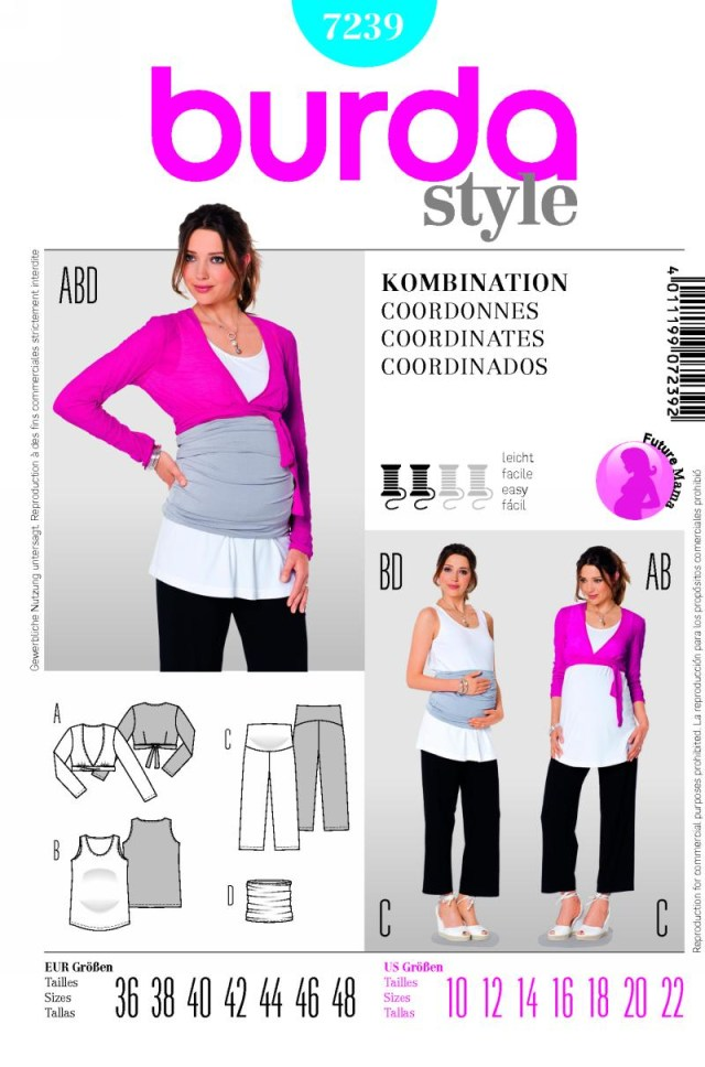 Maternity Sewing Patterns Burda 7239 Maternity Top And Pants Belly Band