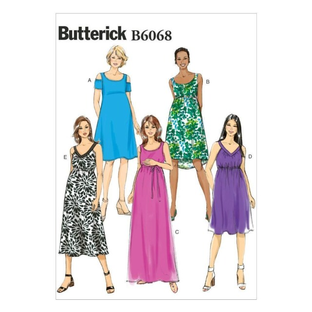 Maternity Sewing Patterns Butterick Sewing Pattern Misses Maternity Dress Belt Size 6 22 B6068