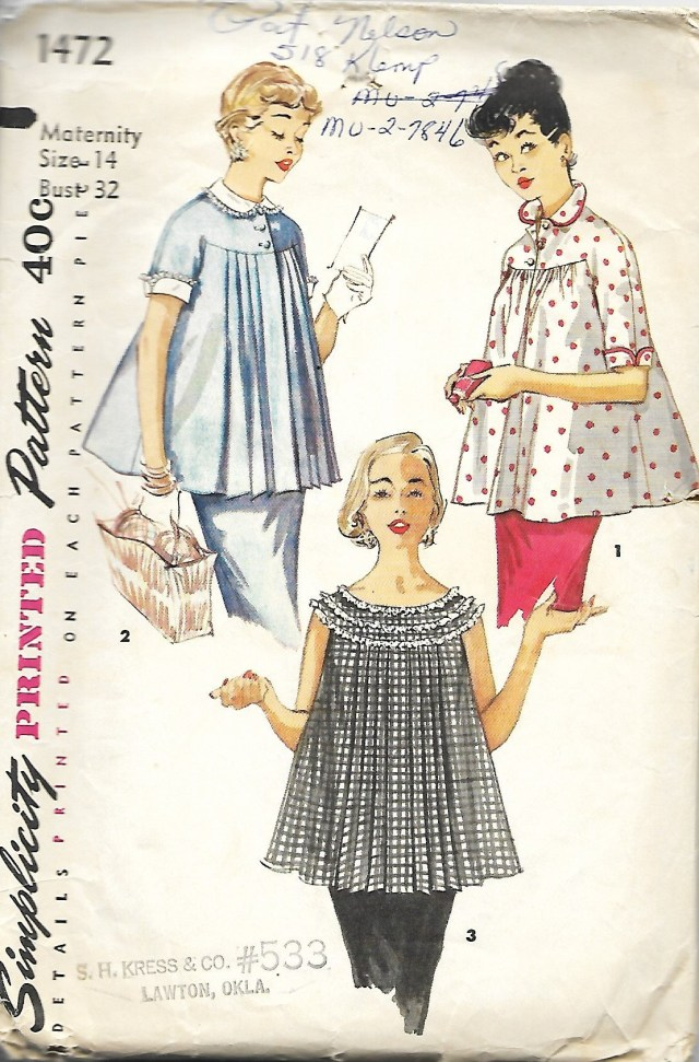 Maternity Sewing Patterns Simplicity 1472 Misses Maternity Sewing Pattern Maternity Etsy