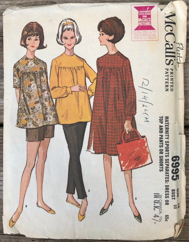 Maternity Sewing Patterns Vintage Mccalls 6995 Size 12 Maternity Sewing Pattern Etsy
