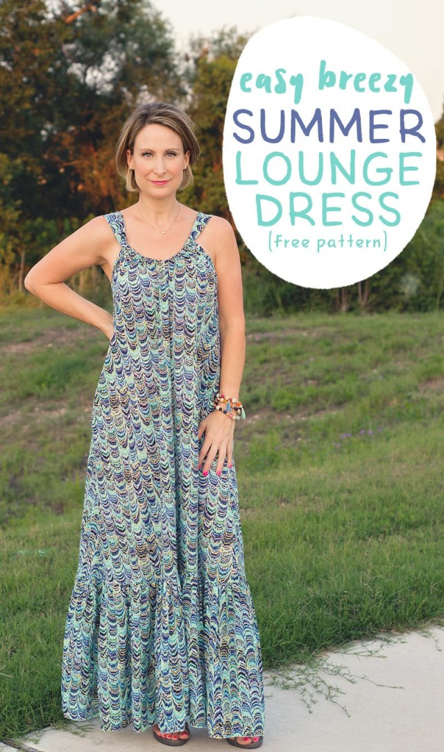 Maxi Dress Sewing Pattern Easy Breezy Summer Lounge Dress Pattern And Tutorial