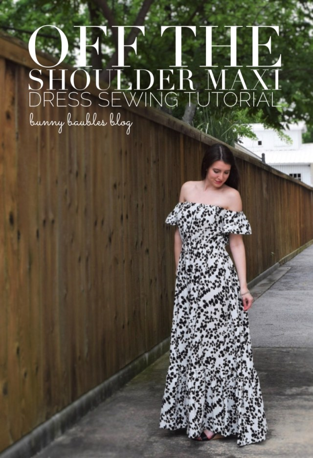 Maxi Dress Sewing Pattern Off The Shoulder Maxi Dress Sewing Tutorial Diy Sewing And