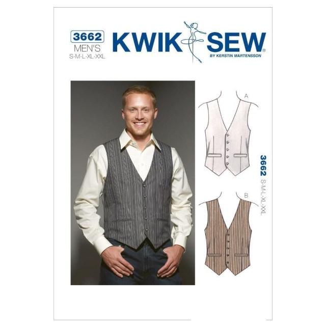 Mens Sewing Patterns Kwik Sew Sewing Pattern Men S Vest Waistcoat Sixze S Xxl K3662