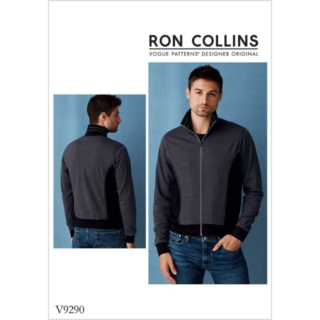 Mens Sewing Patterns Mens Bomber Style Jacket Vogue Sewing Pattern 9290 Sew Essential