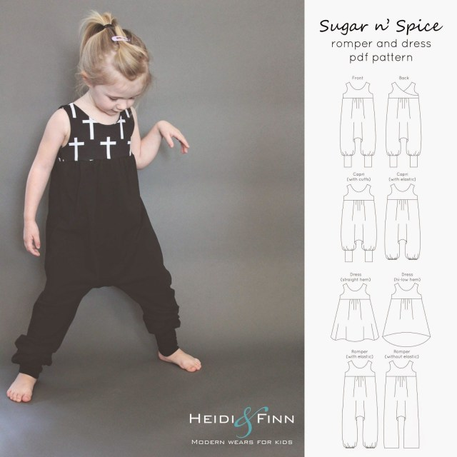 Modern Kids Sewing Patterns Heidiandfinn Modern Wears For Kids Sugar N Spice Dress And Romper