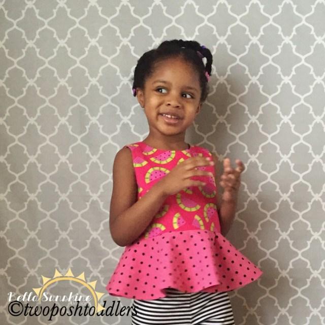 Modern Kids Sewing Patterns Piper Reversible Peplum Top Bella Sunshine Designs