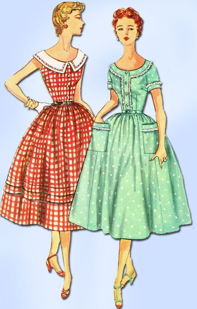Old Sewing Patterns 1950s Misses Simplicity Sewing Pattern 4641 Ff Misses Mother Dress