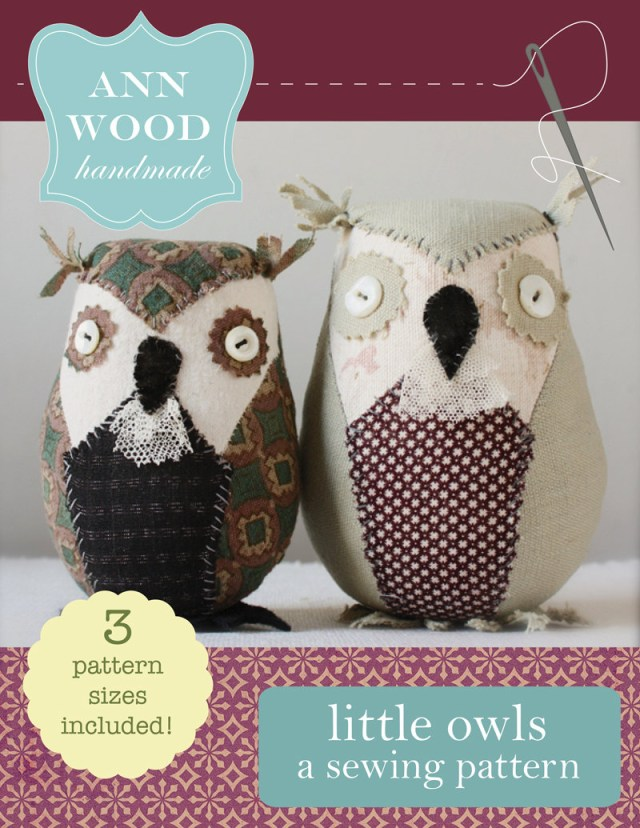 Owl Sewing Pattern A Sewing Pattern Little Owls Etsy