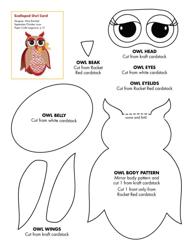 Owl Sewing Pattern Owl Crafts October 2010 Patterns Septemberoctober 2010