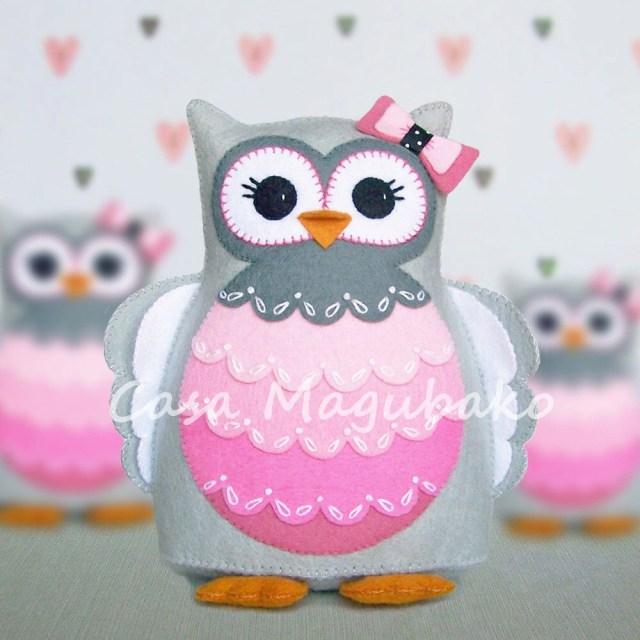 Owl Sewing Pattern Pdf Pattern Owl Felt Pattern Hand Stitched Owl Stuffed Owl