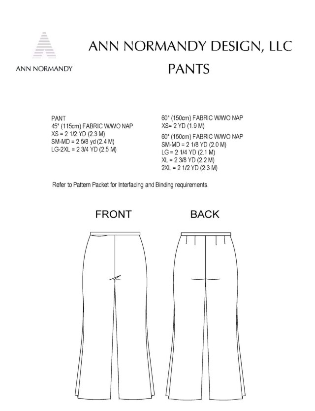 Pants Sewing Pattern Pant Pdf Sewing Pattern Sewing Patterns Ann Normandy Design