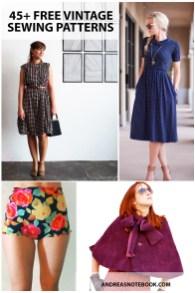 Pattern Design Sewing Dresses 45 Free Vintage Sewing Patterns