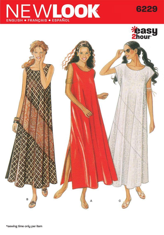 Pattern Design Sewing Dresses New Look 6229 Misses Dress Pattern Sew Organ Ized Pinterest
