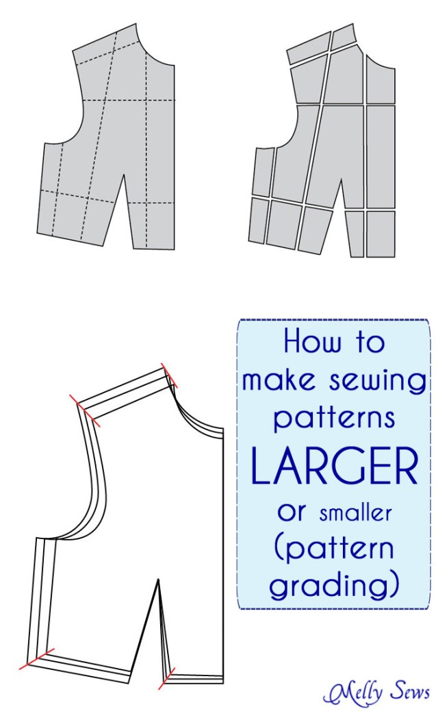 Pattern Making Sewing Diy How To Make A Sewing Pattern Bigger Or Smaller Pattern Grading