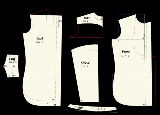 Patterns For Sewing Filethe Shirt System Sewing Patternsvg Wikimedia Commons