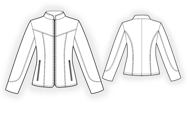 Patterns For Sewing Leather Jacket Sewing Pattern 4296 Made To Measure Sewing