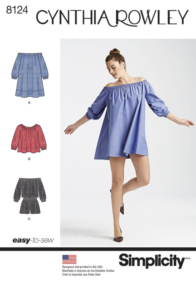 Playsuit Pattern Sewing Misses Playsuit Dress Or Top Off The Shoulder Simplicity Sewing Pa
