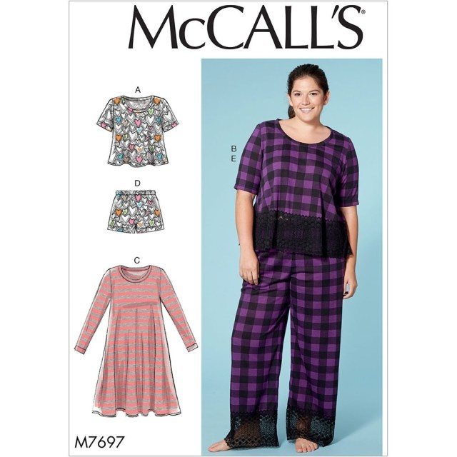 Plus Size Sewing Patterns Misses And Plus Size Lounge Tops Dress Shorts And Trousers Mccalls