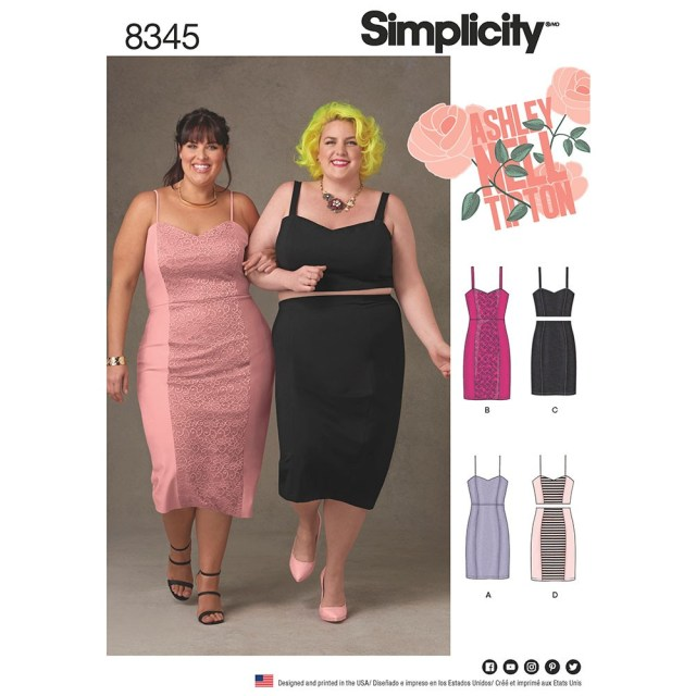 Plus Size Sewing Patterns Plus Size Dress Top And Skirt Ashley Nell Tipton Simplicity