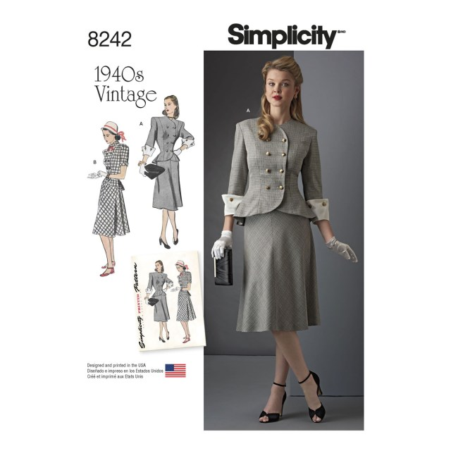 Plus Size Sewing Patterns Simplicity Sewing Pattern Miss Plus Size Vintage 1940s Two Piece