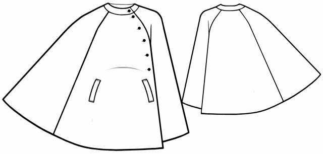 Poncho Sewing Pattern Poncho Coat Sewing Pattern 5603 Made To Measure Sewing Pattern