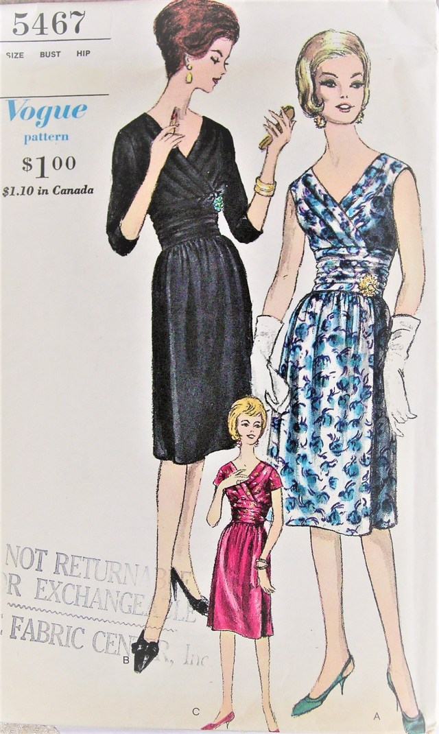 Prom Dress Sewing Patterns 1960s Lovely Cocktail Party Evening Dress Pattern Vogue 5467