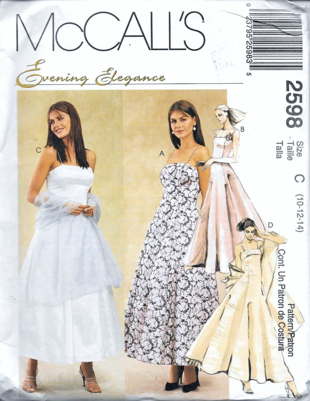 Prom Dress Sewing Patterns Mccalls 2598 Evening Elegance Dress Wedding Prom Gown Etsy