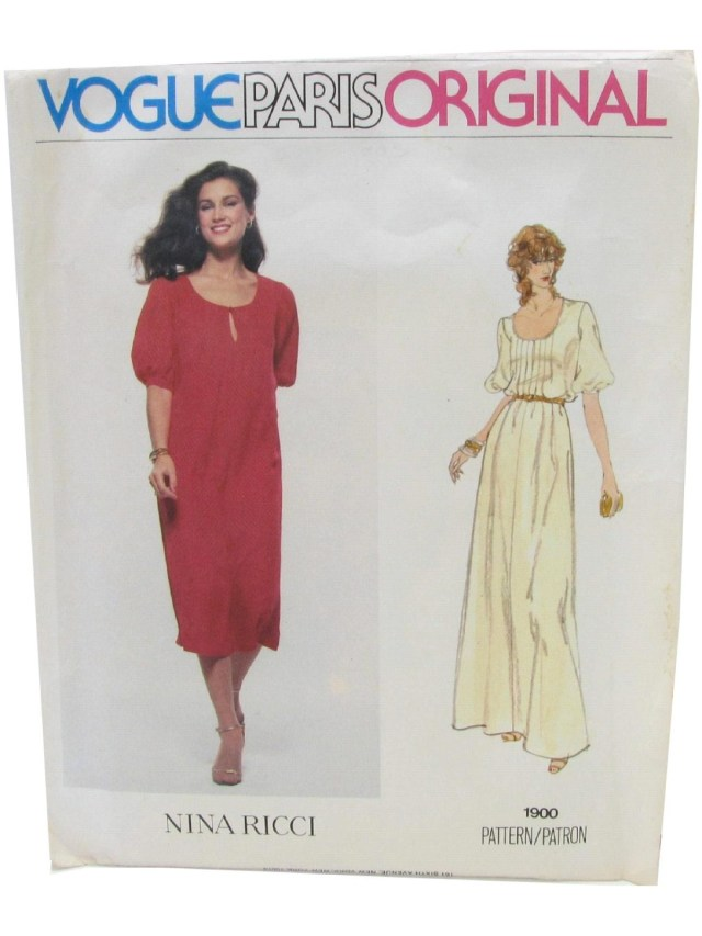 Prom Dress Sewing Patterns Retro 70s Sewing Pattern 70s Vogue 1900 Womens Sewing Pattern