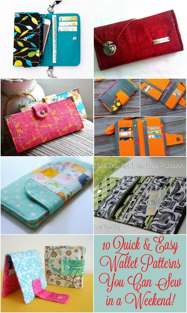Purse Patterns To Sew 10 Quick Easy Wallet Patterns You Can Sew In A Weekend Great