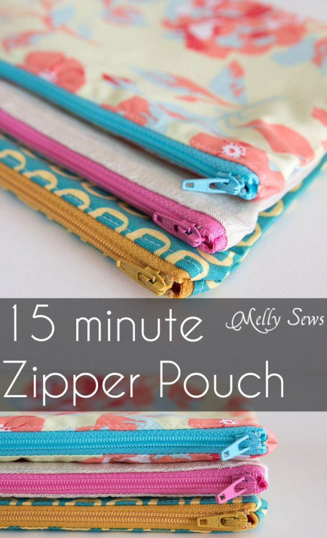Purse Patterns To Sew How To Sew A Zipper Pouch Tutorial Melly Sews