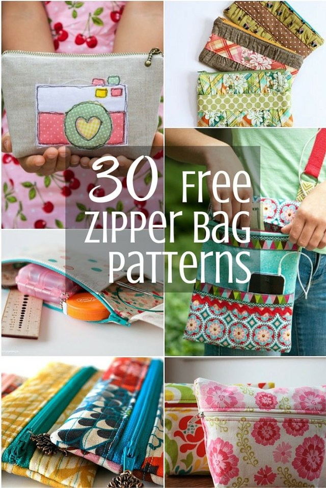 Purse Patterns To Sew Mega List Of Free Zipper Bag Patterns To Keep You Inspired For The