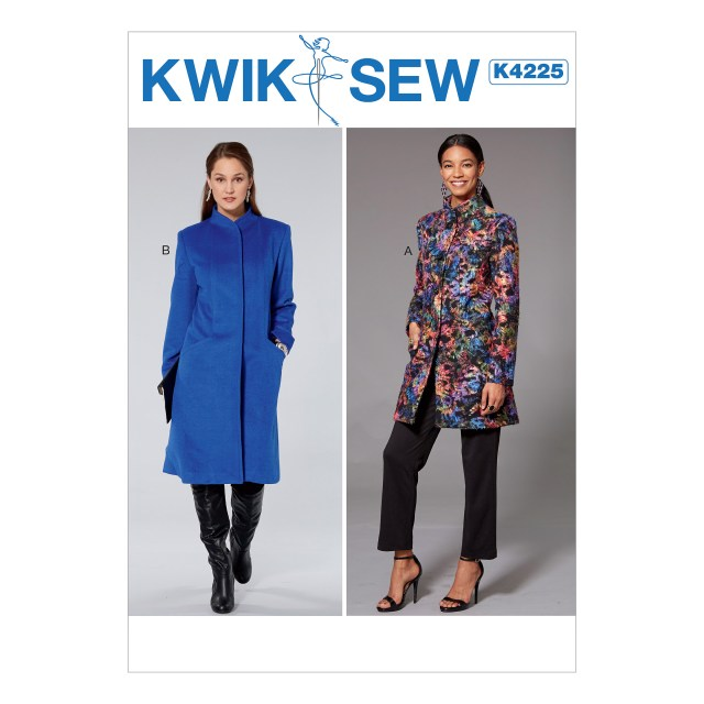 Quick Sew Patterns Kwik Sew 4225 Misses Princess Seam Jacket And Coat With High Collar