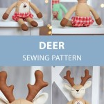 Reindeer Sewing Pattern Deer Reindeer Doll Sewing Pattern Tutorial Diy Rag Doll Soft