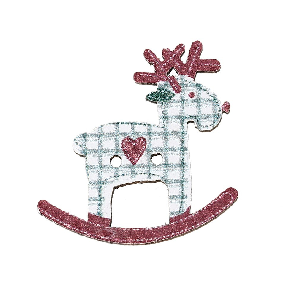 Reindeer Sewing Pattern Hot 50pcs 2 Holes 29mmx28mm Christmas Reindeer Pattern Sewing Mixed