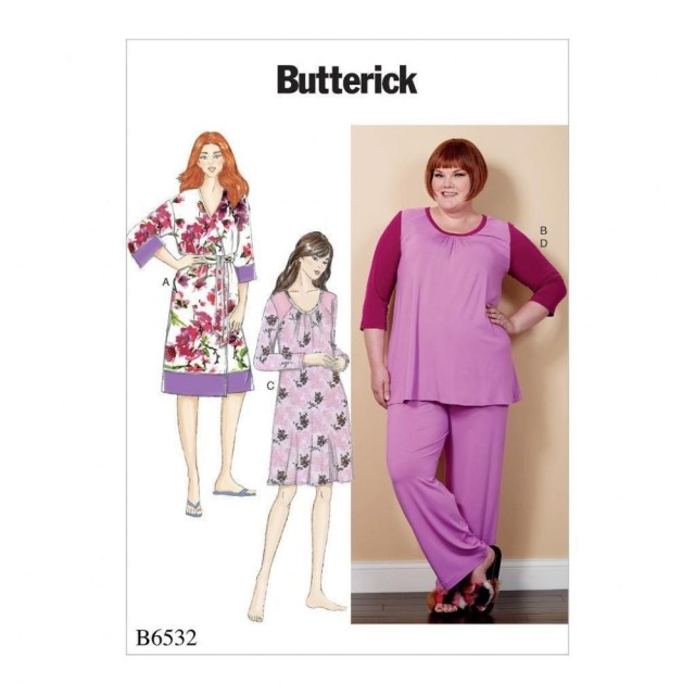 Robe Sewing Pattern Butterick Sewing Pattern Women S Robe Top Dress Pants Sleepwear 18w
