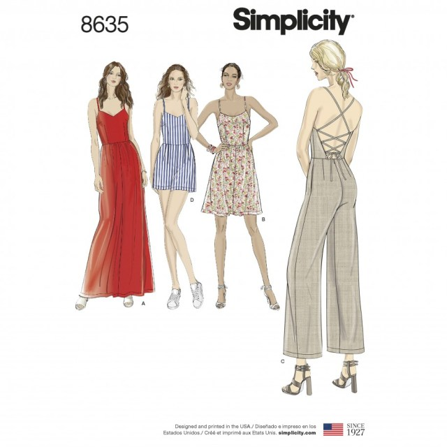 Romper Sewing Pattern Simplicity Sewing Pattern 8635 R5 Misses Dressjumpsuit And Romper