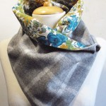 Scarf Sewing Pattern Check Tweed Fabric 100 Wool Snoodscarfneck Warmer With Liberty