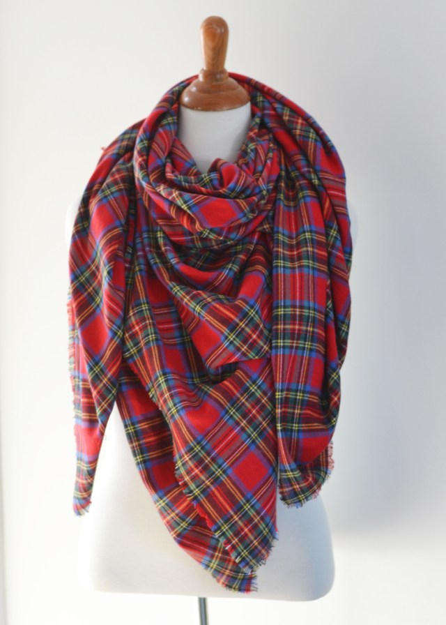 Scarf Sewing Patterns Make An Easy No Sew Diy Plaid Blanket Scarf The Diy Mommy