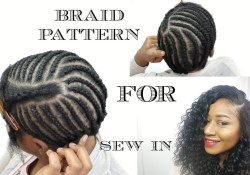 Sew In Braiding Patterns Braid Pattern For Sew In Weave Diy Youtube
