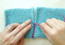 Sewing Knitting Together The Mattress Stitch Sewing For Knitters Youtube