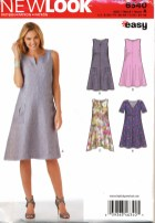 Sewing Pattern Easy Look Sewing Pattern Easy Trapeze Shaped Swing Dress Size 8 20 6340